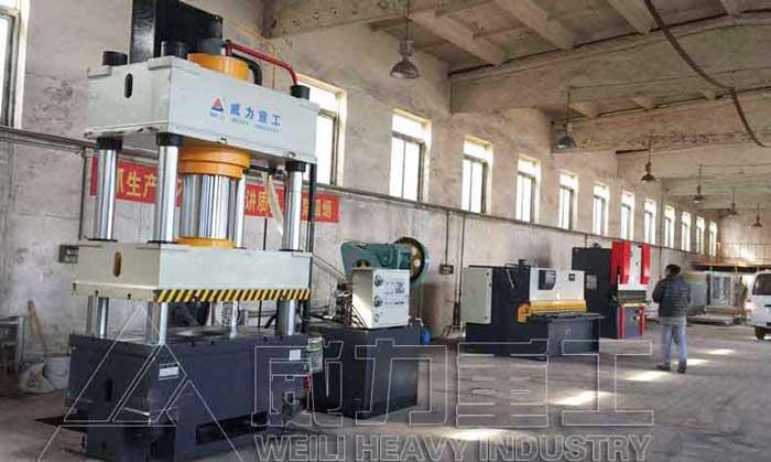 400吨不锈钢水箱板成型液压机1x1米水箱模具