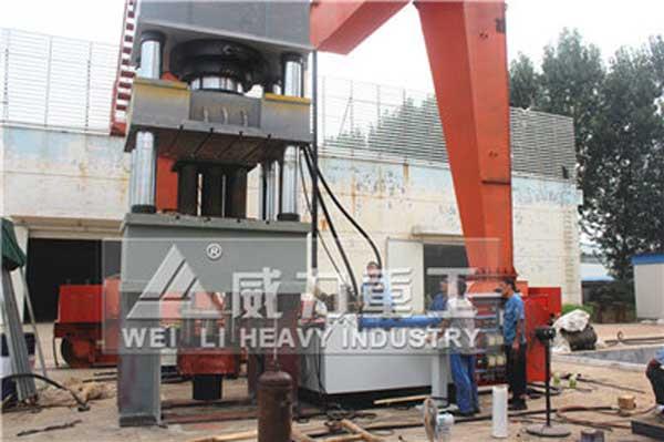 1500吨拉伸机(下顶缸金属拉伸液压机)