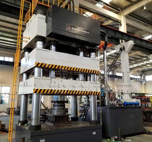 3000吨四柱液压机YW28-3000T封头压力机