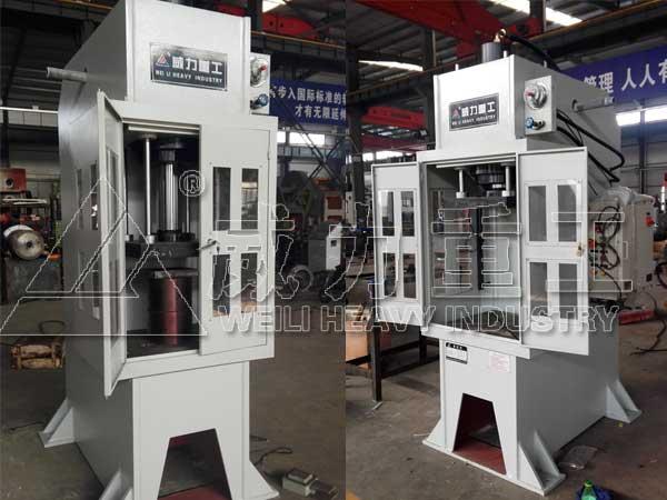 100吨单柱液压机_100T校正压装液压机