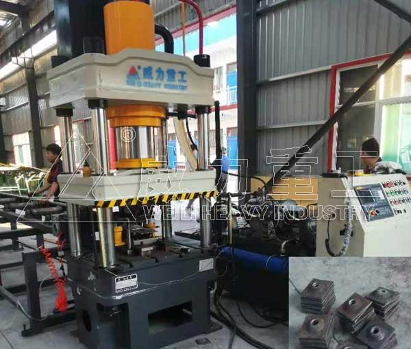 200吨伺服矿用锚索托盘液压机垫板压力机
