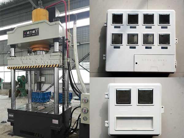 315吨SMC玻璃钢电表箱成型液压机_315T复合材料模压