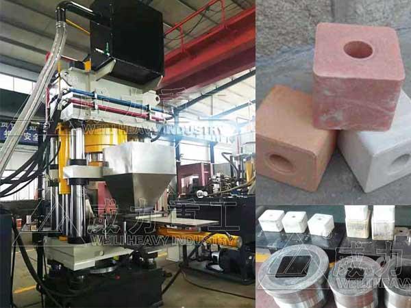 500吨舔盐砖压块机_500T牛羊舔砖成型液压机